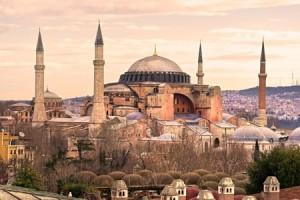 Hagia Sophia mosque in sultanahmet, Istanbul, Turkey