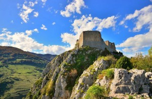 Montsegur Cathar Castle in France