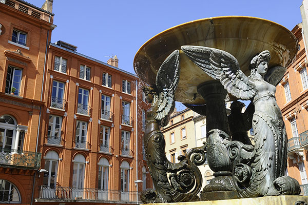 Fountain in Toulouse, France - France Sacred Sites & Ascension Tour