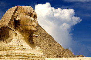 The Sphinx and the Great Pyramid of Egypt