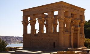 Trajans Kiosk Inside Philea Temple Egypt