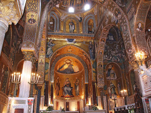 Golden Mosaic inside Cappella Palatina