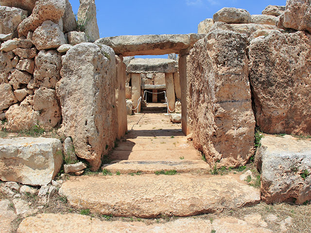 Hagar Qim, the ancient Megalithic Temple of Malta