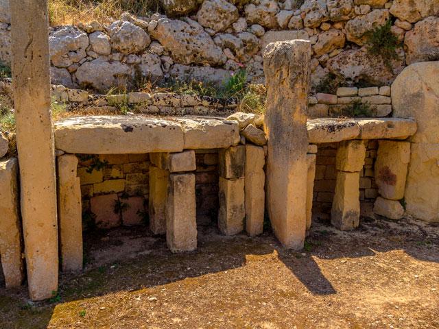 Rests of Ggantija Temple in the island of Gozo in Malta