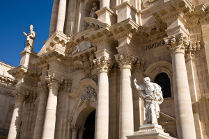 Syracuse Cathedral in Sicily