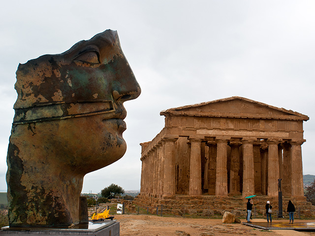 The Ruins of the Temple of Concordia in Agrigento, Sicily