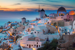 Picture Perfect Oia Village in Santorini, Greece