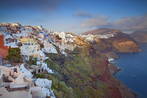 Classic Santorini, Greece Mountainside View
