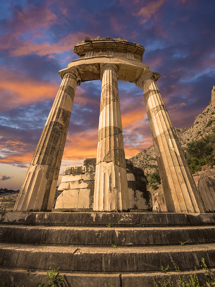 The Tholos of the Oracle Delphi in Greece