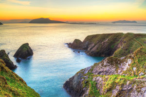 Sunset Over Dunquin Bay on Dingle Peninsula in Ireland - Sacred Tour of Celtic Ireland