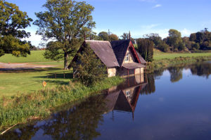 Boat House on a River in Kildare, Ireland