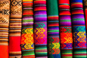 Colorful fabric at market in Peru, South America | Sacred Tour of Peru