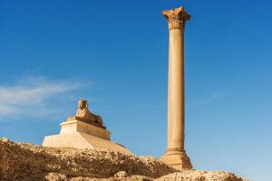 Pompey Pillar in center of Alexandria, Egypt - Egypt Sacred Tour