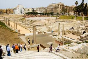 Roman Ampitheatre in Alexandria, Egypt - Egypt Sacred Sites Tour
