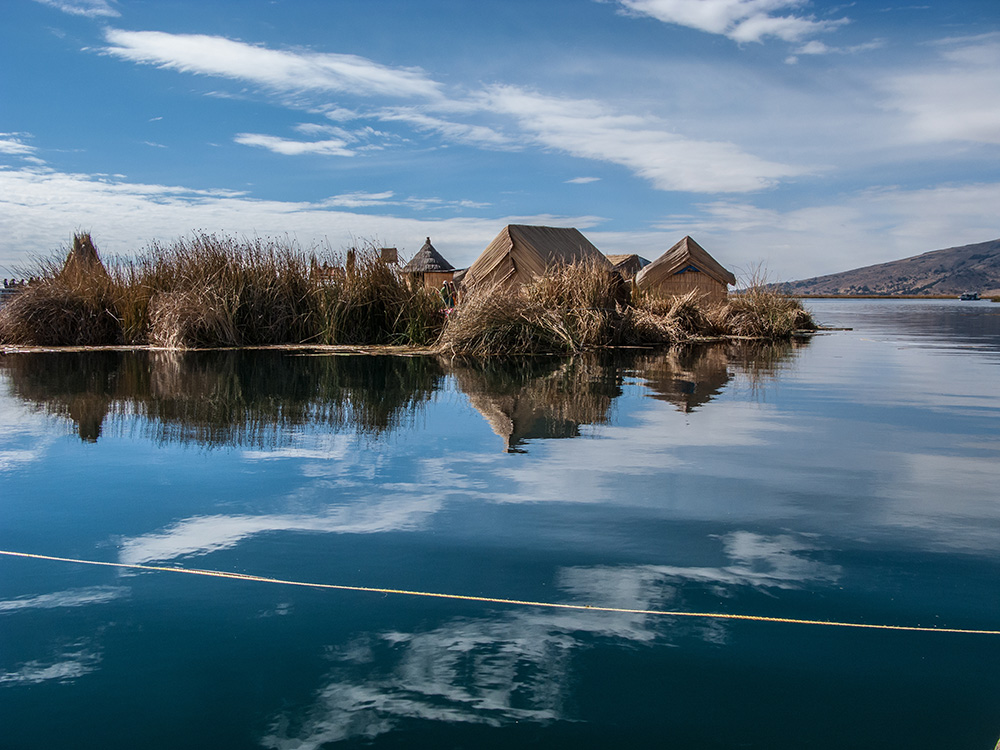 Uros Floating Island in Lake Titicaca, Peru