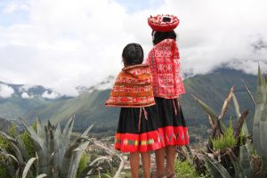 Peru - Sacred Valley - Girls in Colorful Dress