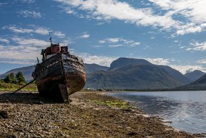 Ship wreck at Fort William in Scotland - Scotland sacred sites tour | Sacred Mystical Journeys