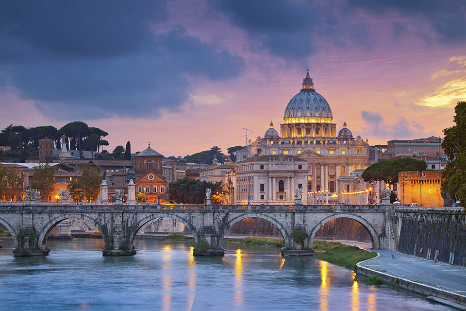 Scenic view of Rome at Sunset
