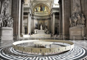 Interior of the Pantheon showing Foucalt's Pendulum - Sacred Tour of France
