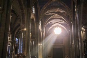 Interior of Santa Maria sopra Minerva in Rome, Italy