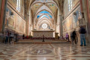 Interior view of Basilica of St. Francis in Assisi, Italy - Tour the Sacred Sites of Italy
