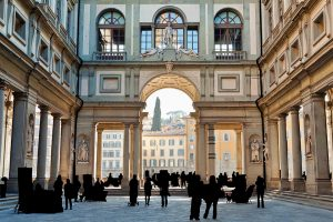 Piazzale deglie Uffizi in Florence, Italy - Italy Sacred Sites Tour