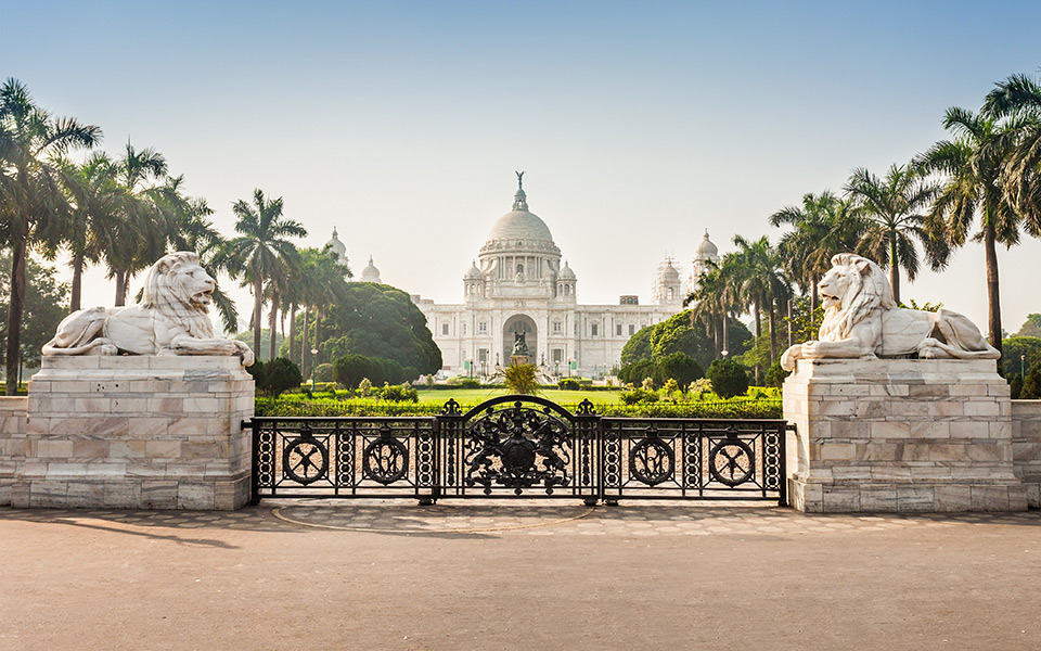Victoria Memorial in Kolkata, Northern India