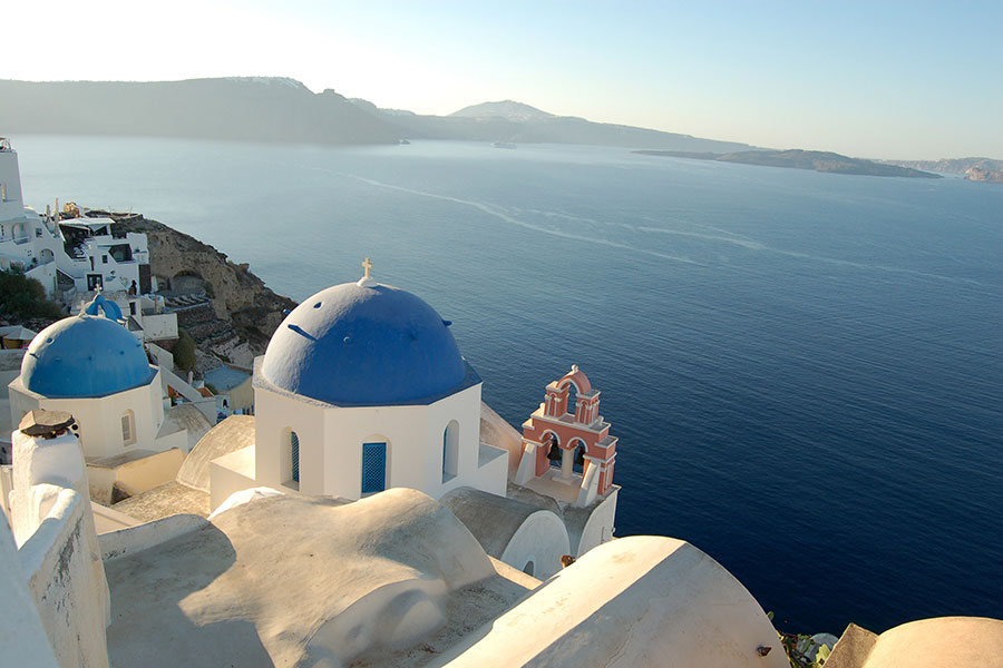 Oia, Greece near Santorini - Greece Pilgrimage with Joan Clark