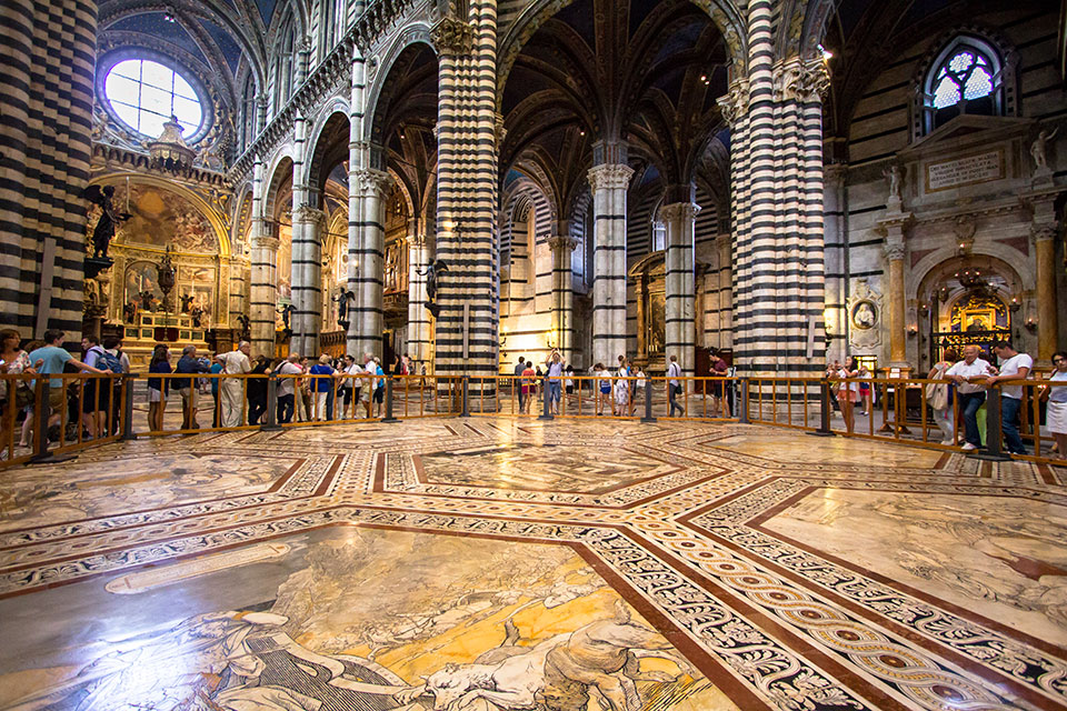 Interior of Duomo Cathedral in Siena