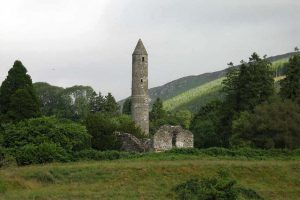 Round tower of Glendalough - Joan Clark's Mystical Pilgrimage to Ireland