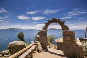 Arch at Taquille Island in Peru - Sacred Tour of Peru | Sacred Mystical Journeys