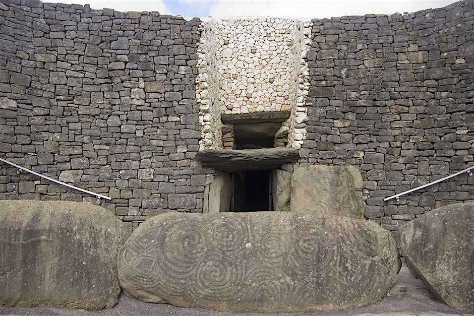 Entrance of Newgrange in the Boyne Valley