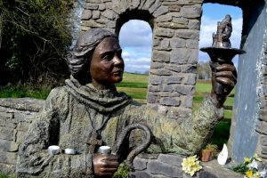 St. Brigid's bronze statue - Joan Clark's Mystical Pilgrimage to Ireland