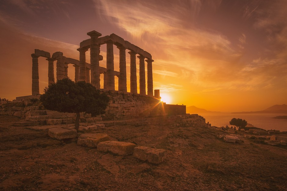 Temple of Poseidon in Sounion Greece