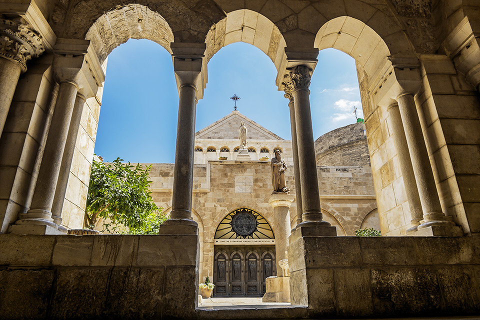 View of the Church of the Nativity in Bethlehem, Israel | Sacred Tour of Israel