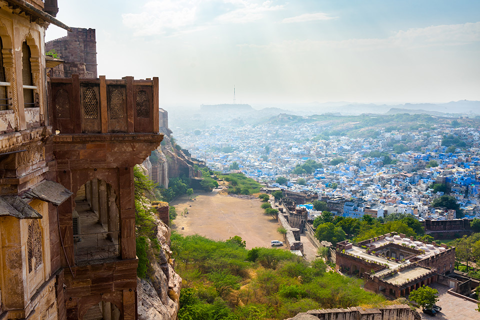 Blue City of Jodhpur from Mehrangarh Fort