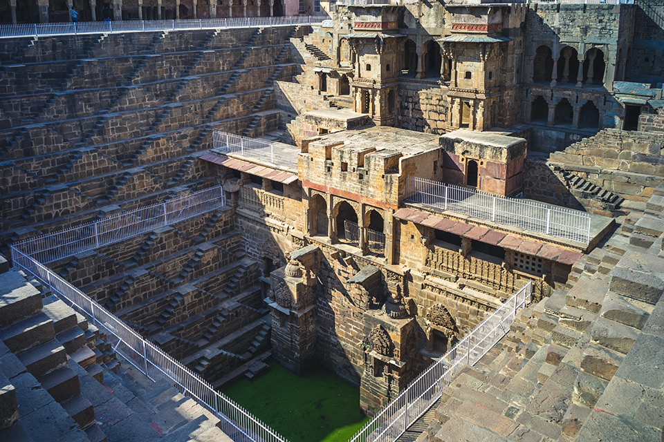 Chand Baori Step Well in Abhaneri, Rajasthan, India