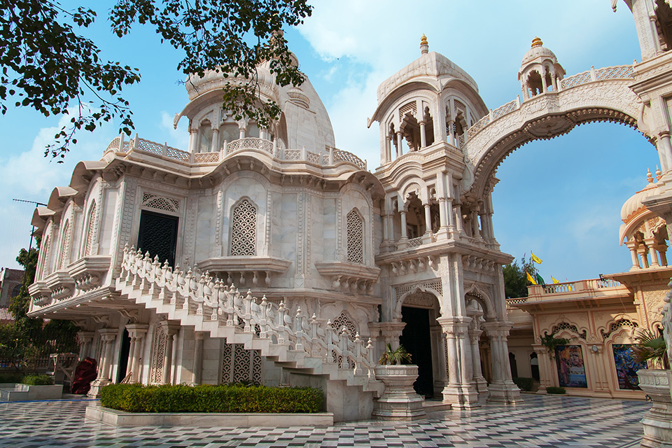 Sri-Krishna Balaram Temple in Mathura, India