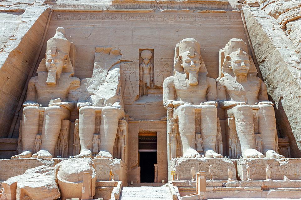 The Great Temple of Ramses II at Abu Simbel