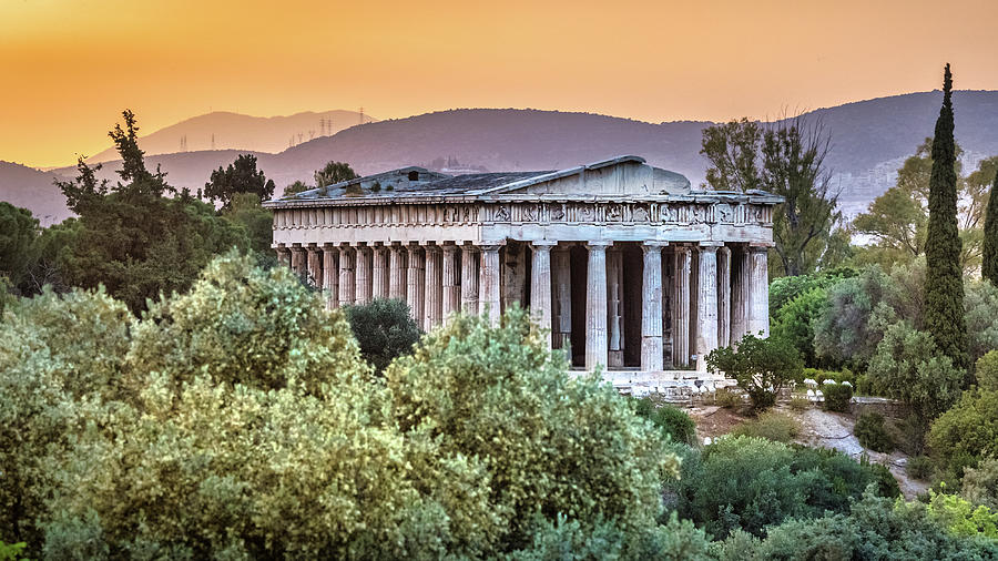 Ancient Agora at Sunset