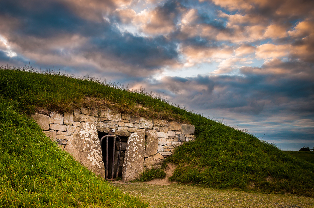The Mound of Hostages at Tara Hill in Ireland